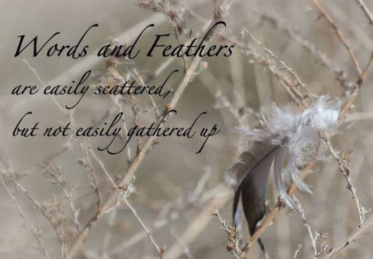 words-as-feathers